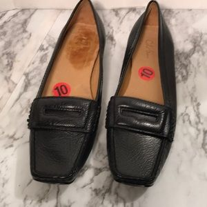 Cole Haan Black Leather Loafers Size 10